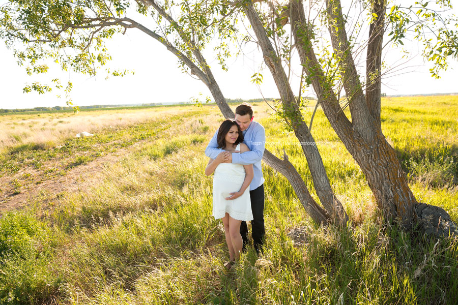 A new couple are expecting their first child together in Edmonton