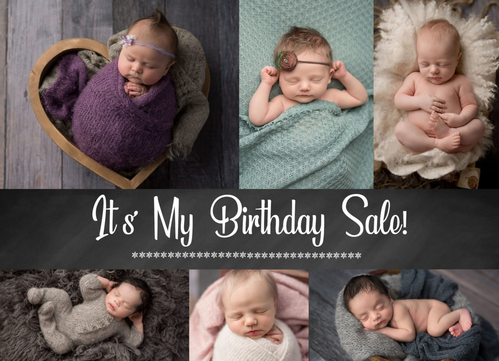 A collage of beautiful Edmonton newborn babies  taken during a photo session.